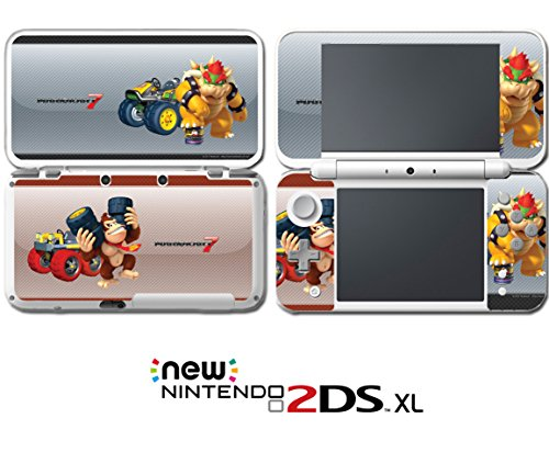 Mario Kart 7 8 3D Bowser Donkey Kong Video Game Vinyl Decal Skin Sticker Cover for Nintendo New 2DS XL System Console