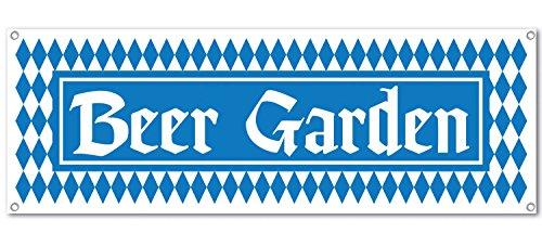 Beer Garden Sign Banner Party Accessory (1 count) (Halloween Beer Drinking Games)