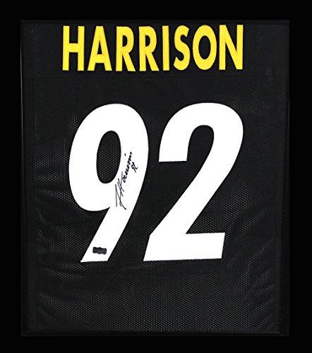 James Harrison Autographed/Signed Pittsburgh Steelers Framed Black Custom Jersey