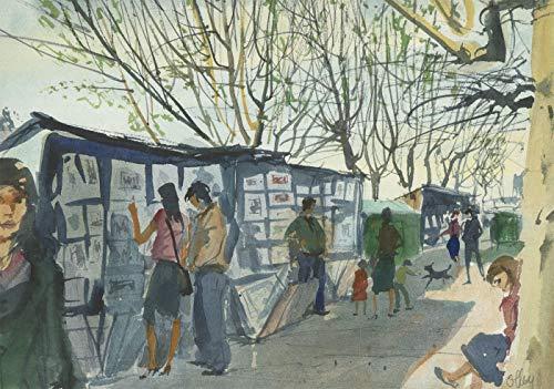 Ronald Olley (b.1923) - Fine c. 2000 Watercolour, Street Market, -