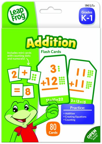 LeapFrog Addition Flash Cards for Grades K-1 Pack of 80 (19415)