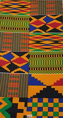 African Print Fabric by The Yard K.