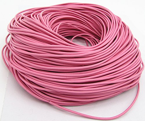 (Genuine Round Leather Cords For Bracelet Neckacle Beading Jewelry Making 10 meter (Pink))
