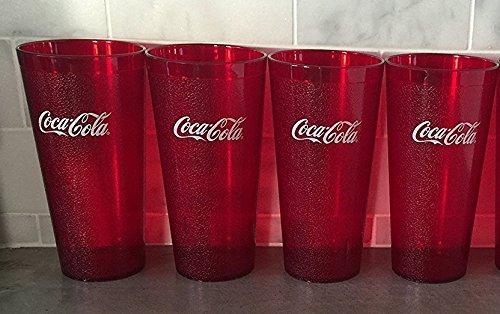 New (4) Coke Coca Cola Restaurant Red Plastic Tumblers Cups 32 oz (Coca Cola Tumbler)