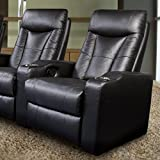 Coaster Home Furnishings 600130XRR Contemporary Recliner, Black (Right Recliner)