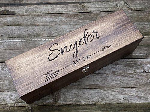Custom Wine Box, First Fight Box, Memory Box, wine box ceremony, wine box wedding, wedding gift, shower gift, anniversary gift, fifth anniversary gift
