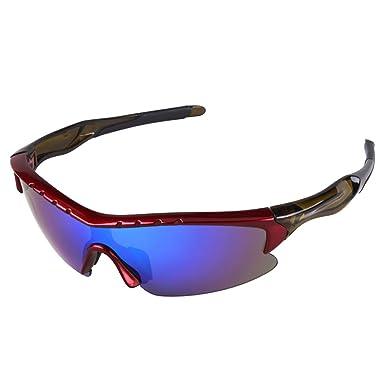 Protection UV400Lunettes de soleil de sport pour cyclisme de pêche Golf Rouge/Noir WMQmSeVZe