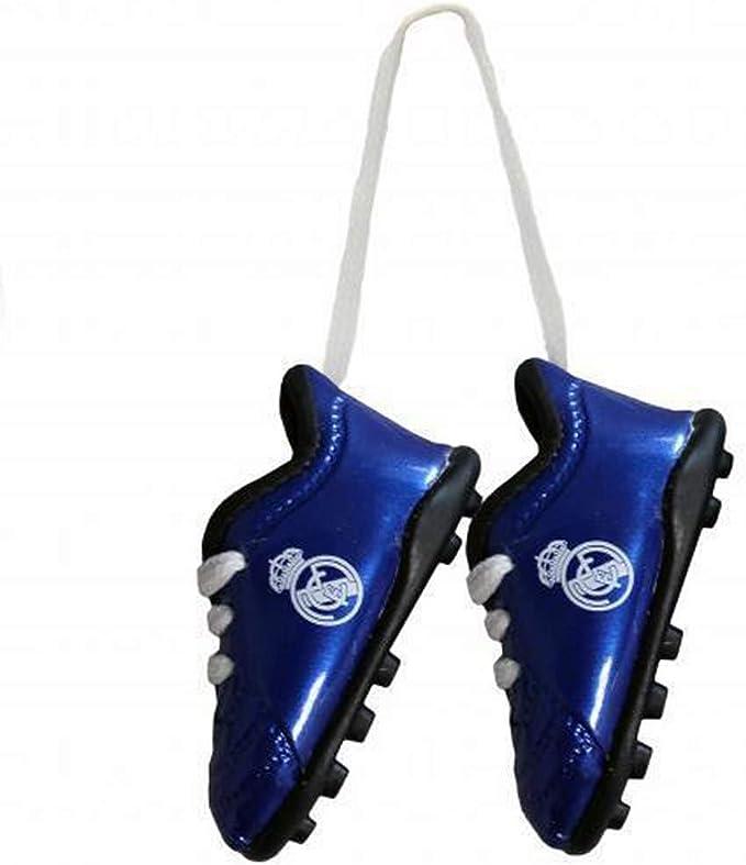 Real Madrid - Botines de fútbol para Colgar del retrovisor (Tamaño Único) (Azul): Amazon.es: Hogar