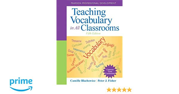 Teaching Vocabulary In All Classrooms 5th Edition Pearson