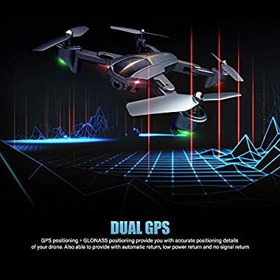 Goolsky VISUO XS812 Drone 2.4G GPS 5G WiFi 1080P Wide Angle Camera WiFi FPV Altitude Hold Foldable RC Quadcopter w/ 3 Batteries