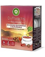 Air Wick geurwax starterset – geur: verkwikkende bloedsinaasappel & guajakhout – 1 x elektrisch geurwasapparaat in wit, inclusief 2 x geurwasstokjes