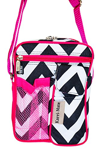 Karri-Mate Chevron Hipster Crossbody Purple