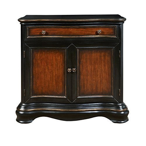 Pulaski DS-P017035 Traditional Two Door Hall Chest with Rich Two Tone Finish, Black (Chest Two Doors)