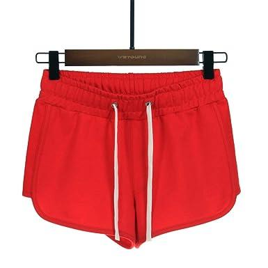 Pantalones Cortos Bordados Casuales Deportivos de algodón para ...
