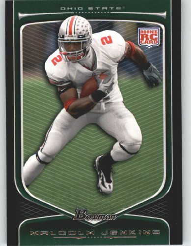 2009 Topps Draft Picks - Malcolm Jenkins RC - Ohio State (RC - Rookie Card) 2009 Bowman Draft Picks Football Cards #125 - NFL Trading Card