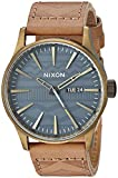 Best Designer Warehouse Gshock Watches - Nixon Men's 'Sentry Leather' Quartz Stainless Steel Casual Review