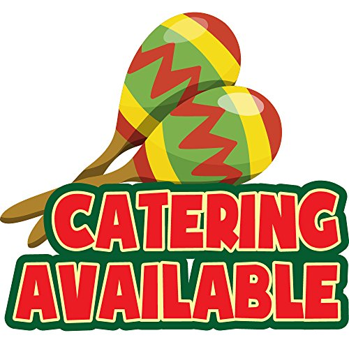 """New CATERING AVAILABLE 12"""" Concession Decal sign cart trailer stand sticker equipment"""