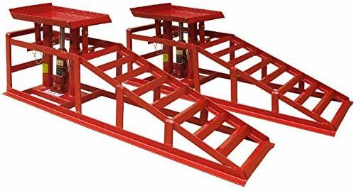 DEET® Rampas de elevación con gato de 2 toneladas, para coches y camionetas, gatos hidráulicos profesionales, color rojo: Amazon.es: Coche y moto