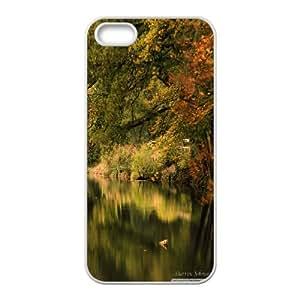 Boathouse at Winkworth Arboretum IPhone 5,5S Cases, Iphone 5s Cases for Teen Girls Kawaii Okaycosama - White