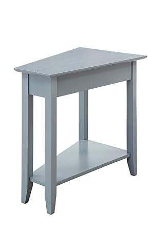 Convenience Concepts American Heritage Wedge End Table, Gray
