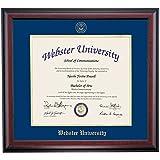 Webster Gorloks Diploma Frame Navy Gold Matting Embossed Seal