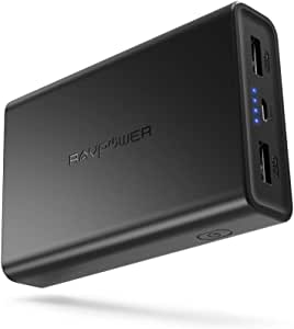 Portable Charger RAVPower 10000mAh Power Bank Ultra-Compact Battery Pack with 3.4A Output Dual iSmart 2.0 USB Ports Portable Battery Charger Compatible with Iphone iPad and More