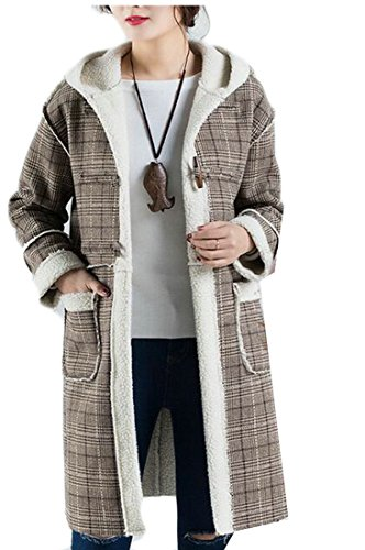 Jacket picture today Hooded Pea UK Womens Plaid As Print Wool Lined Lamb Quilted Uv7qUxr