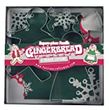 Fox Run 3663 Gingerbread Family Cookie Cutter Set, Stainless Steel, 4-Piece