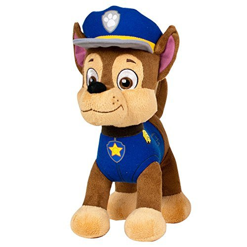 Patrulla canina (PAW PATROL) - Peluche personaje Chase, Pastor Aleman Policia (20cm de pie) Calidad super soft - Color Azul