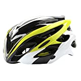 ChezMax Men and Women Specialized Bike Helmet with Visor, Adjustable Sport Cycling Helmet for Road Mountain Biking, Motorcycle, Fluorescent Yellow