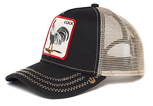 Goorin Bros. Men's Animal Farm Snap Back Trucker Hat, Black Rooster, One Size -