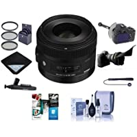 Sigma 30mm f/1.4 DC HSM ART Lens for Sony Alpha DSLRs, USA Warranty - Bundle With 62mm Filter Kit, FocusShifter DSLR Follow Focus, Cleaning Kit, Lenspen Lens Cleaner, Software Package, And More