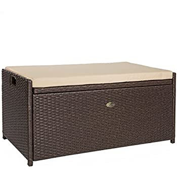 Amazon Com Rubbermaid Outdoor Patio Storage Bench 4 Cu
