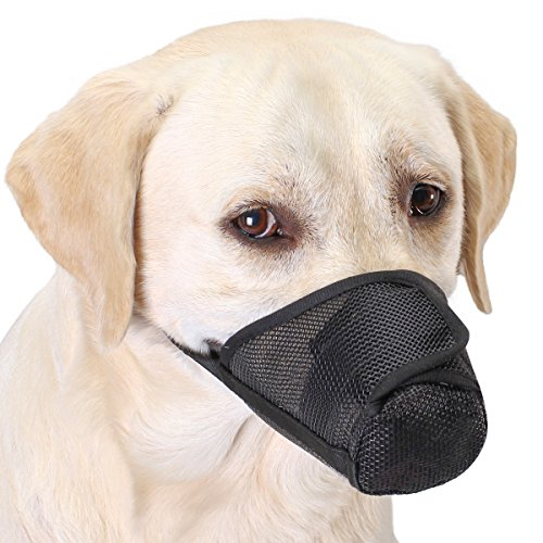 FOMATE Dog Muzzle, Anti Licking Quick fit Long Snout Gentle mesh mask Mouth Cover for postoperative...