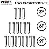 #6: Zeikos 3 Pack Lens Cap Leash Lens Cap Keeper Holder Prevent Lens Cap Lost for DSLR SLR Camera Canon, Nikon, Sony, Panasonic, Fujifilm Camera and More
