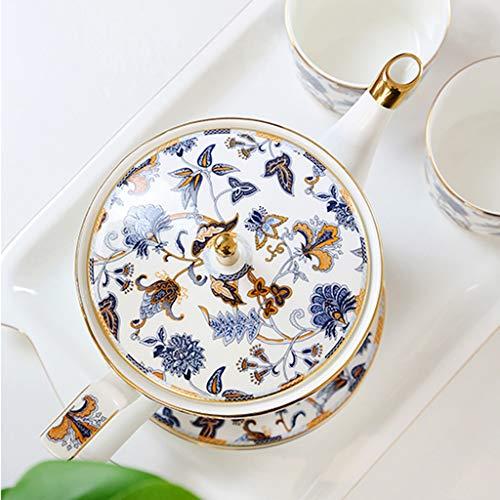 CSQ Coffee Cup Five Sets of Tea Sets, Black Tea Coffee Restaurant Tea Set Scented Tea Teapot Ceramic Teapot Capacity: 1150ml Afternoon Tea (Color : #2) by Tea set-CSQ (Image #3)
