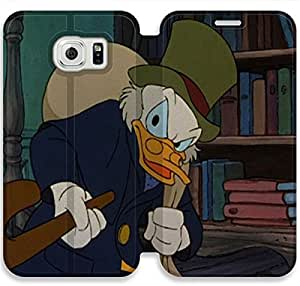 Disney An Adventure In Color Character Ludwig Von Drake-19 iPhone Samsung Galaxy S6 Edge Leather Flip Case Protective Cover New Colorful