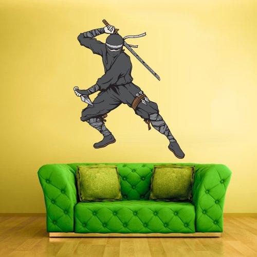 Amazon.com: Full Color Wall Decal Sticker Art Samurai Ninja ...