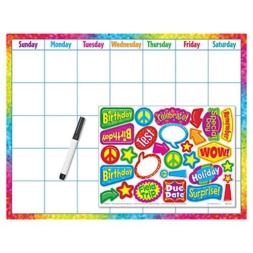 Colorful Brush Strokes Calendar Wipe-Off® Kit