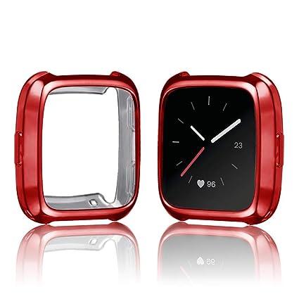 Protector para Fitbit Versa,☀️Modaworld Ultrafino TPU de Recubrimiento Suave Funda Protectora de Silicona