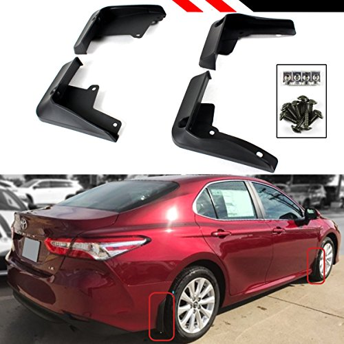 Cuztom Tuning Fits for 2018 2019 Toyota Camry LE XLE Hybrid OE Style 4 Pieces Front + Rear Splash Guards Mud Flaps Set