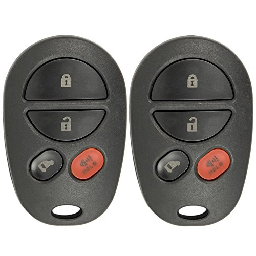 (New Replacement Keyless Entry Remote Key Fob for Toyota Sienna with FCC ID GQ43VT20T (2 Pack))