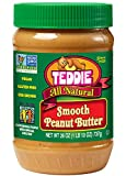 Teddie All Natural Peanut Butter, Smooth, 26-Ounce Jar (Pack of 3) (Packaging may vary)