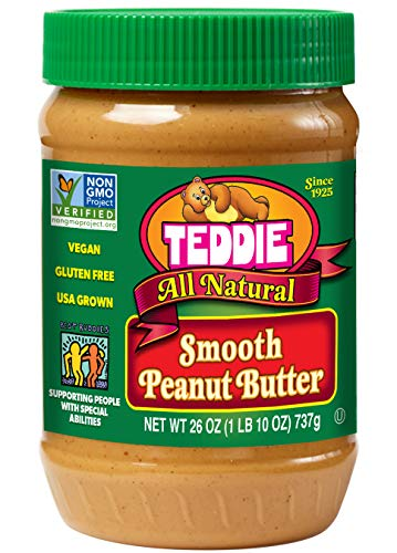 Teddie All Natural Peanut Butter, Smooth, 26-Ounce...