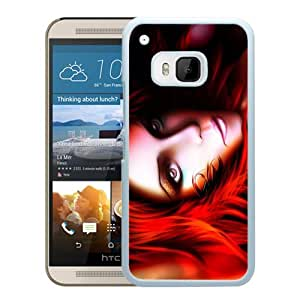 Beautiful And Unique Designed With Girl Make Up Red Eyes (2) For HTC ONE M9 Phone Case