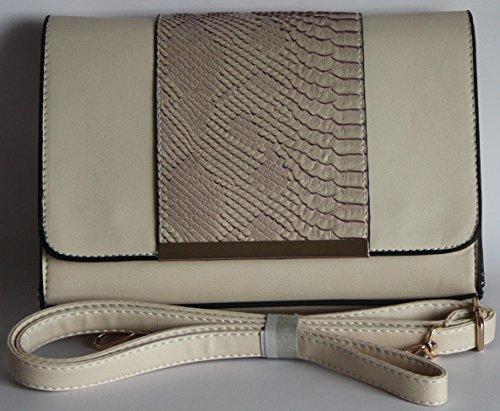femme pour moyen Beige Noir DL Pochette White 87257 Black Accessories wqxx8AInp
