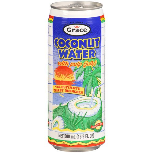 Grace Coconut (Grace Agua de Coco con Pulpa / Coconut Water with Pulp 17.5oz 8 Pack)