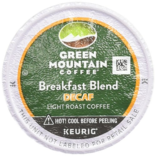 Green Mountain Coffee K-Cups, Breakfast Blend(melange) Decaf, 96-Count (Mountain Breakfast Decaf Green)