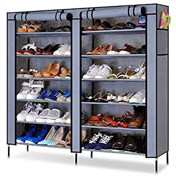 JN Retails Multipurpose Open 12 Layer Portable Cloth Cabinet Shoe Racks for Home Organizer (Colour May Vary)