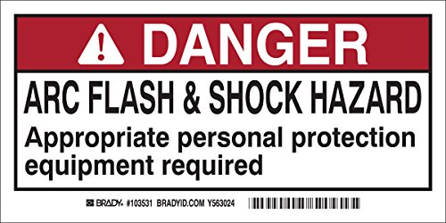 Brady 103531 Arc Flash and Shock Label(Pack of 10) ()